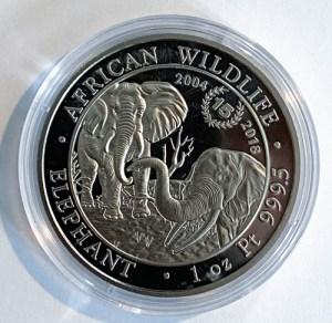 1 Oz Platinmünze African Wildlife Elefant 1 Unze Platin