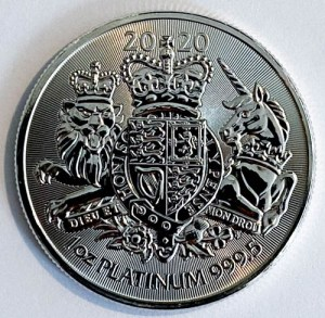 1 Oz Platinmünze Royal Arms 1 Unze Platin