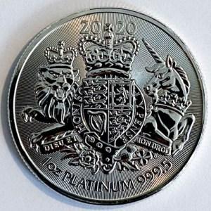1 Oz Platinmünze Royal Arms 1 Unze Platin