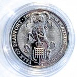 Queens Beasts Yale of Beaufort 1 Oz Platinmünze 2020