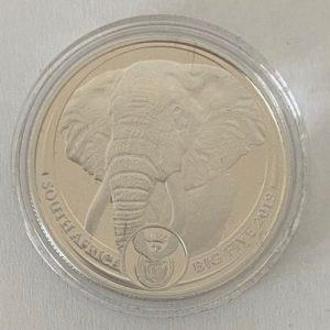 1 Oz Platin Big Five Elefant Elephant South Africa 1 Oz Platinmünze Hinten