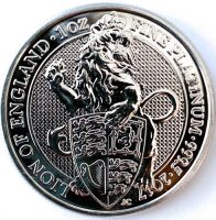 1 Oz Platinmünze Queens Beasts Lion of England Münze Vorne
