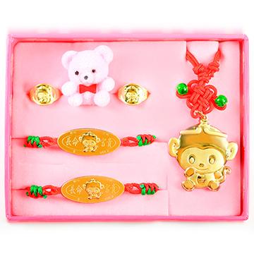 彌月金飾禮盒-寶寶滿月禮套組-美猴王(0.30錢)(0.50錢) | 金寶珍銀樓|專賣彌月金飾,黃金項鍊,白鋼飾品