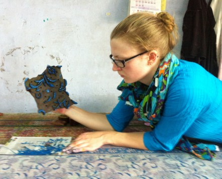 Last day of class at the Block Printing Studio.
