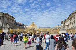 Front gates of Versailles