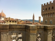 View of the Duomo and rooftops