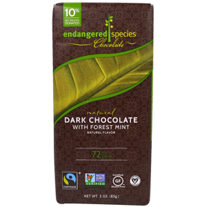 Endangered Spicies Chocolate 深い森のミントを使ったダークチョコレート