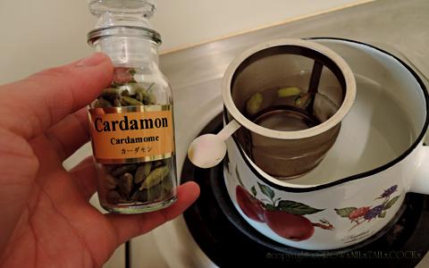 ヴィーガンのためのチャイ風豆乳ミルクティー カルダモン