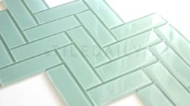 mint subway tile