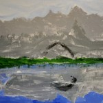 Briley Krug Mountain Painting