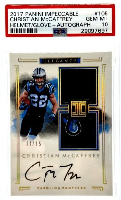 Christian McCaffrey Rookie Card Checklist