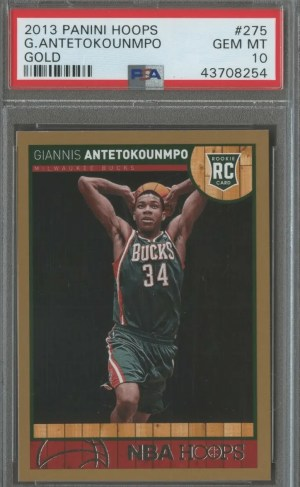 Giannis Antetokounmpo NBA Hoops Gold Border Rookie Card