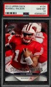 2012 Upper Deck Football Russell Wilson rookie card