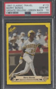 barry bonds rookie card donruss