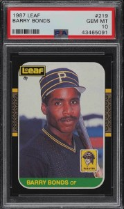 barry bonds leaf card