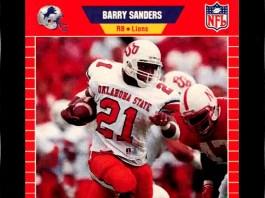 best barry sanders rookie cards
