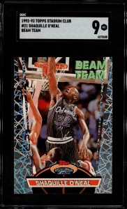 shaquille o'neal rookie card worth