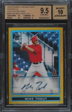 Mike Trout Bowman Chrome rookie