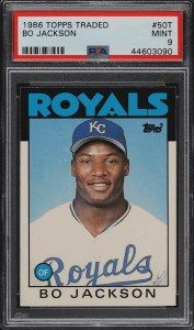 bo jackson topps traded rookie card