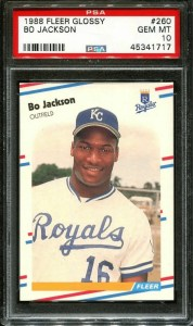 how much is a bo jackson rookie card worth