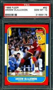 1986 Fleer Hakeem Olajuwon Rookie