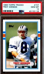 Troy Aikman topps rookie card