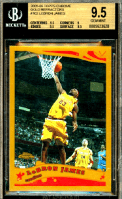 2005 LeBron James Topps Chrome Gold Refractor