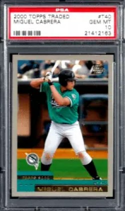 Miguel Cabrera Topps rookie card