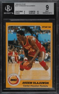 Hakeem Olajuwon Star Rookie Card
