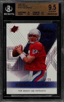 Tom Brady Rookie Card Value