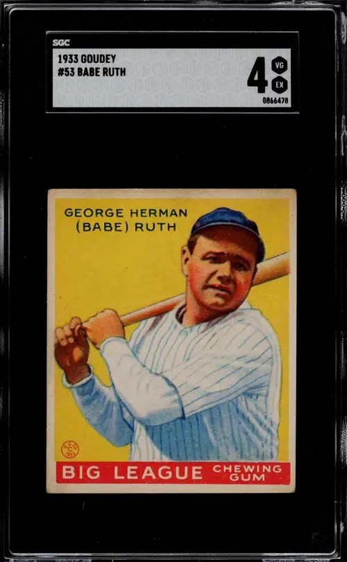The 7 Most Expensive Baseball Cards from the 1930's