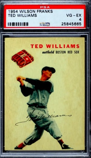 best ted williams baseball cards