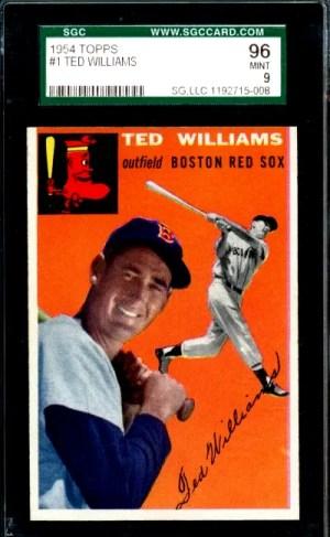 ted williams baseball card topps 1954