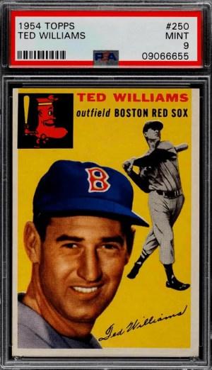 ted williams baseball card 1954