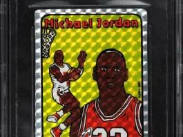 1985 Prism Jewel Sticker Michael Jordan