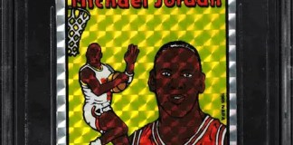 1985 Prism Jewel Sticker Michael Jordan