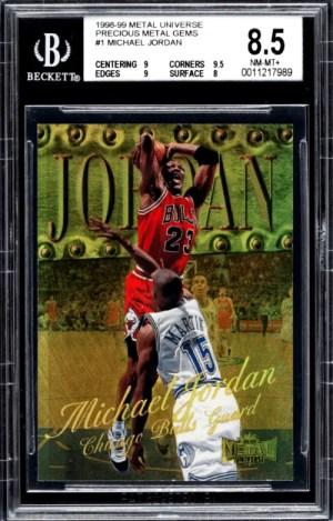 1998 Michael Jordan Metal Universe Precious Metal Gems