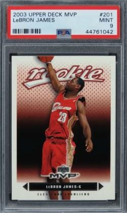 2003 Upper Deck MVP LeBron James Future HOF ROOKIE RC #201