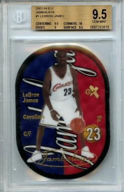 2003-04 E-X Jambalaya Lebron James #1