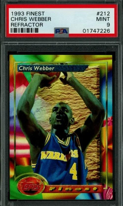 1993 Chris Webber Topps rookie card