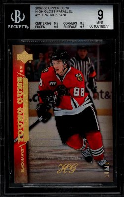 most valuable Patrick Kane Rookie Card