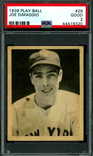 Joe DiMaggio Play Ball card