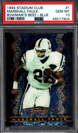best marshall faulk rookie card