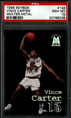 Vince Carter Skybox Molten Rookie Card
