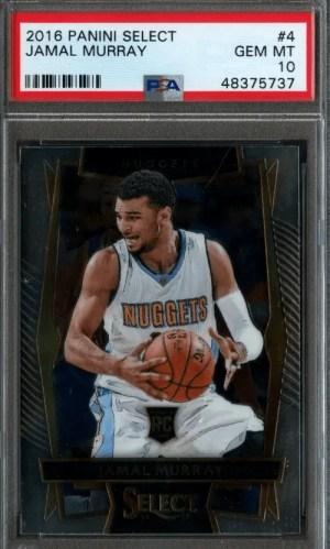 Jamal Murray Panini Select rookie card