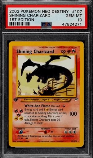 Shiny Charizard Pokemon Card 1st Edition