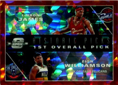 2019 Zion Williamson LeBron James Contenders Optic