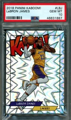 lebron james lakers basketball cards