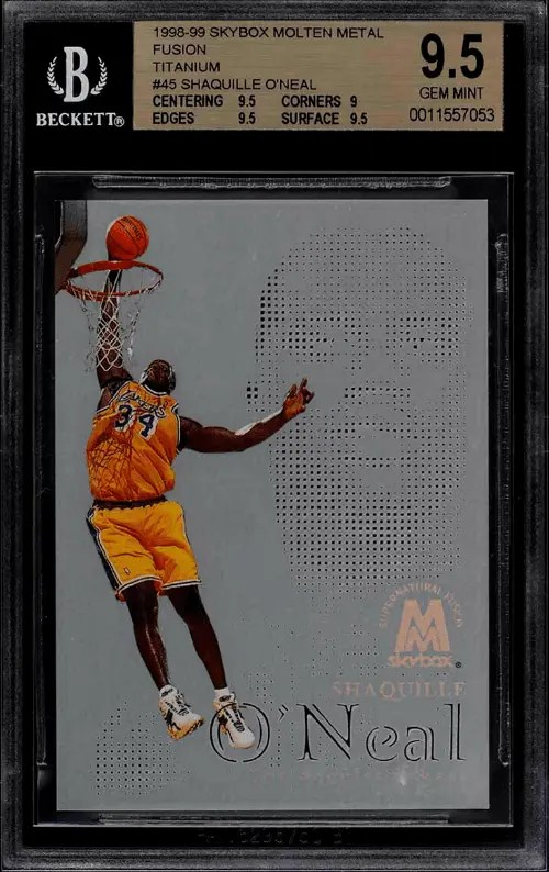 Shaquille O'Neal Lakers Basketball Card