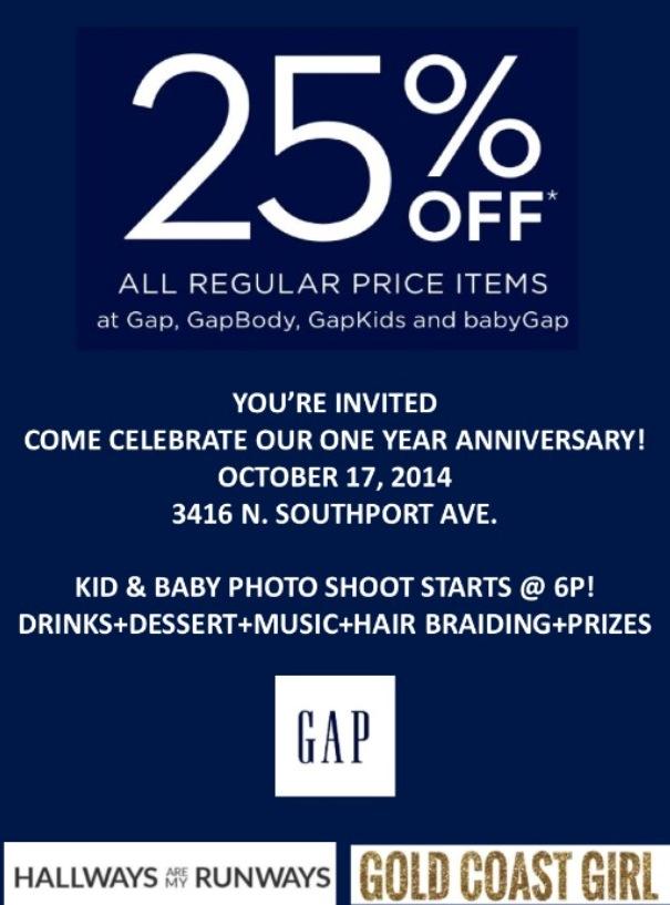 gap southport event flier